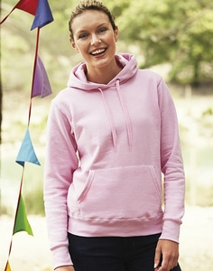 Fruit of the Loom 62-038-0 - Sweatshirt Mulher Com Capuz Ajustada