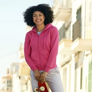 Fruit of the Loom 62-118-0 - Chaqueta Sudadera con Capucha Para Dama