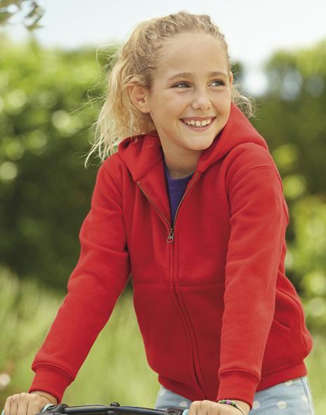 Fruit of the Loom 62-035-0 - Kids Hooded Zip Sweatshirt