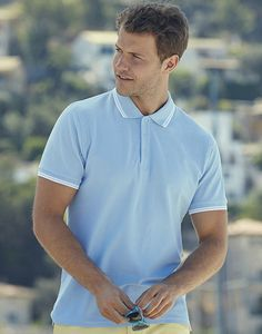 Fruit of the Loom 63-032-0 - Polo Homem Tipped