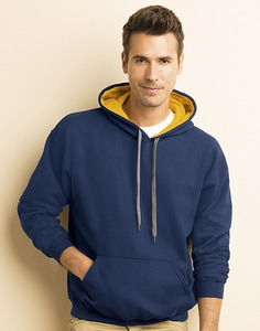Gildan 185C00 - Mens Heavy Contrast Hooded Sweat
