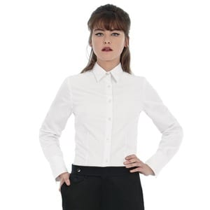 B&C Heritage LSL Women - Ladies` Heritage LS Poplin Shirt - SWP43
