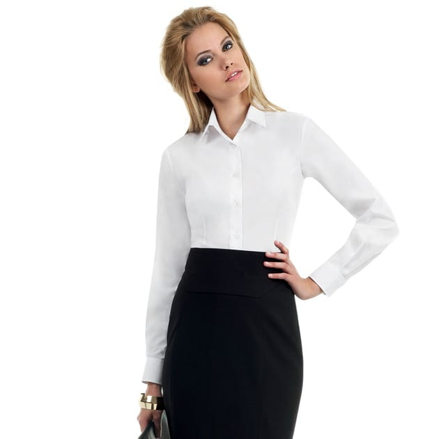 B&C Smart LSL Women - Ladies` Smart LS Poplin Shirt - SWP63