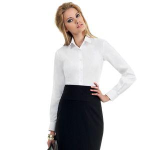 B&C SWP63 - LS Poplin Shirt