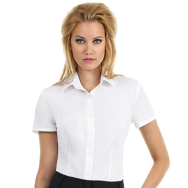B&C SWP64 - Ladies' Smart Short Sleeve Poplin Shirt