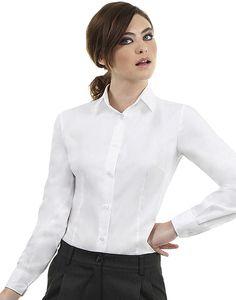 B&C SWT83 - Sharp Twill Overhemd met Lange Mouwen