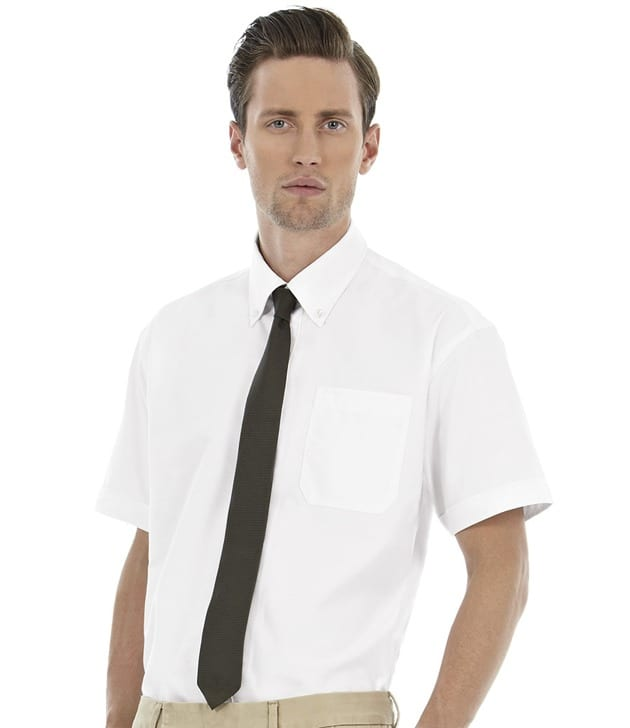 B&C SMO02 - Oxford Overhemd met Korte Mouwen