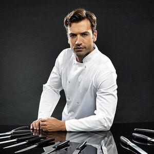 Premier PR665 - Unisex Long Sleeve Stud Front Chefs Jacket