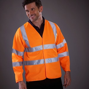 Yoko YK007 - Long sleeve high visibility vest (HVJ200)