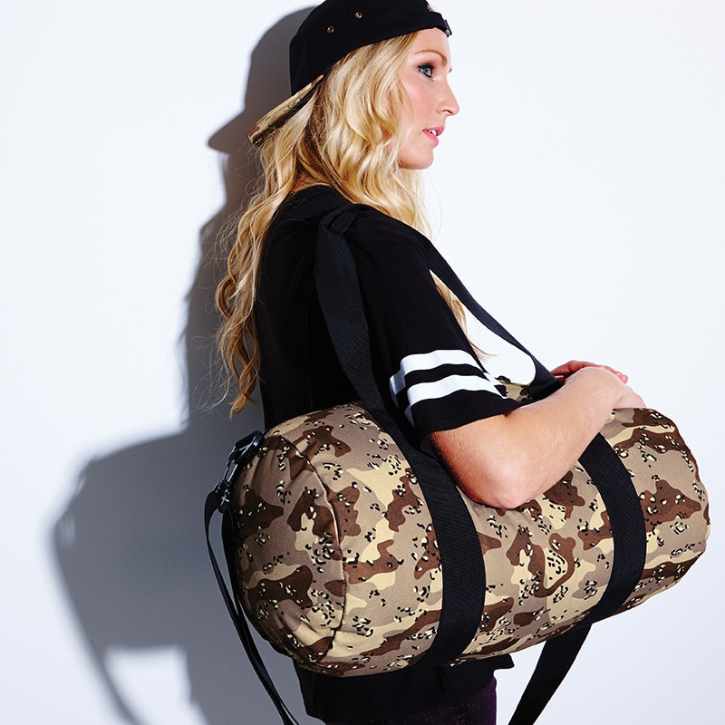 BagBase BG173 - Camo barrel bag