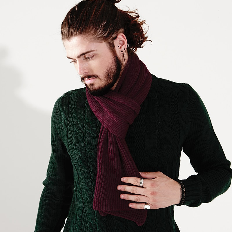 Beechfield BC469 - Metro knitted scarf
