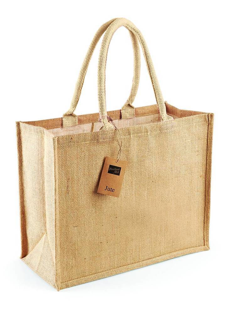 Westford Mill WM407 - Borsa shopper classica in juta