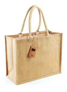 Westford mill WM407 - Burlap Shopping Bag