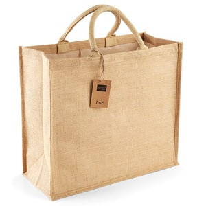 Westford Mill WM408 - Jute jumbo shopper Bolso Mujer