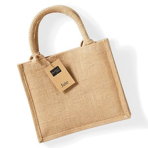 Westford mill WM412 - Mini bolsa de regalo de yute