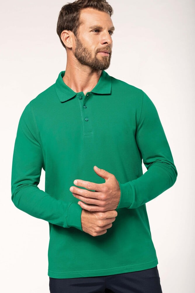 Kariban K243 - MEN'S LONG SLEEVE PIQUE POLO SHIRT