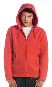 B&C CGWM647 - Sweatshirt Hooded Full Zip Men