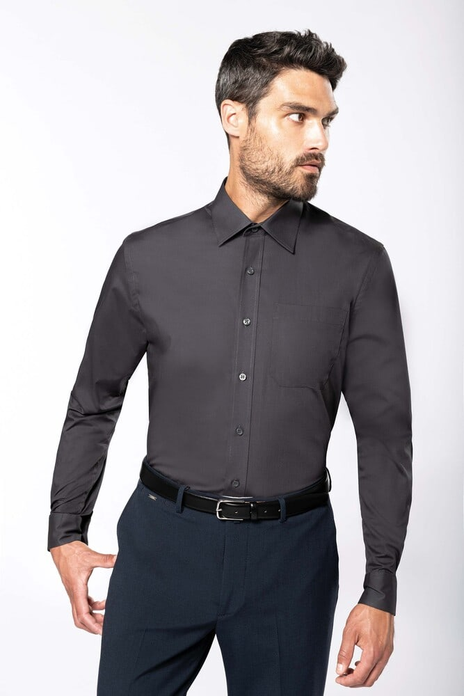 Kariban K541 - MEN'S LONG SLEEVE EASY CARE COTTON POPLIN SHIRT