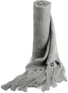 K-up KP402 - JACQUARD KNITTED SCARF