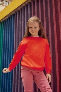 Fruit of the Loom SC62041 - SWEAT ENFANT MANCHES DROITES