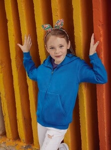 Fruit of the Loom SC62045 - Sweatshirt Criança Com Capuz e Zíper