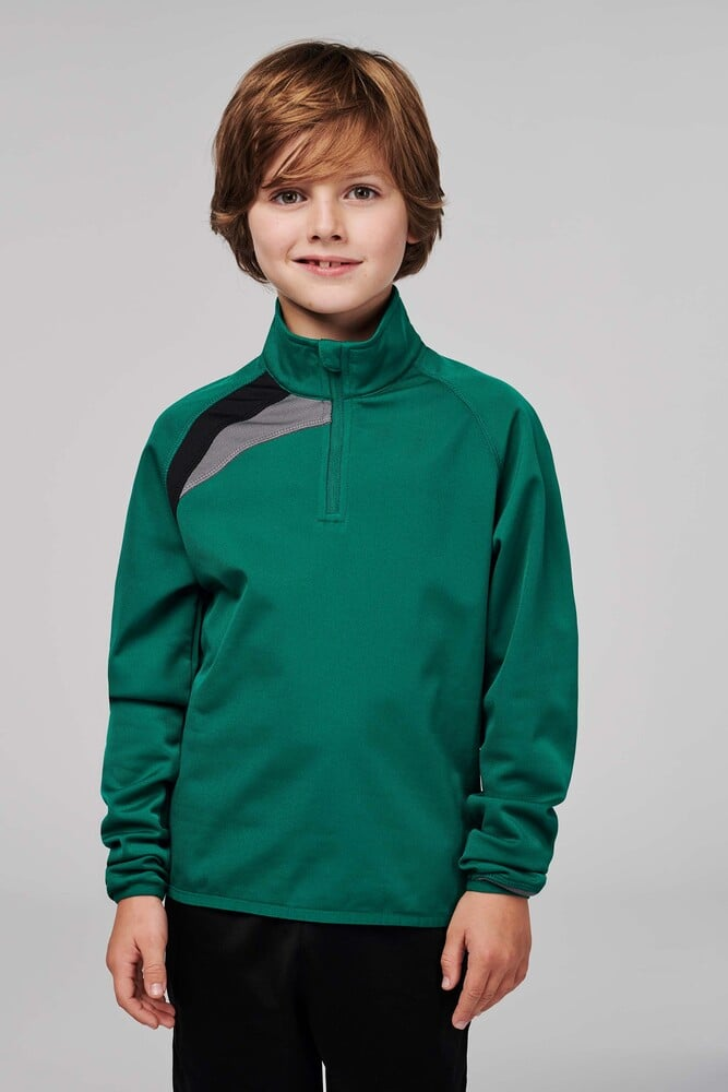 ProAct PA329 - JUNIORS ZIP NECK TRAINING TOP