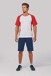 ProAct PA467 - T-SHIRT BICOLORE SPORT MANCHES COURTES UNISEXE