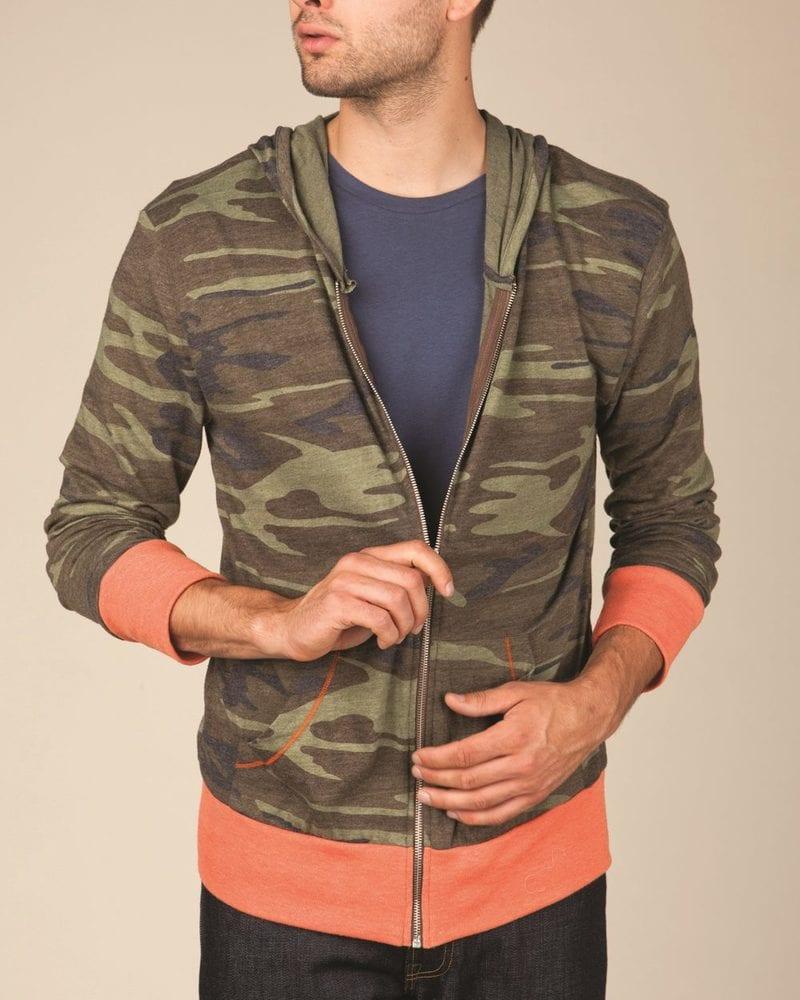 Alternative 1970ea - Printed Eco-Jersey Hooded Full-Zip