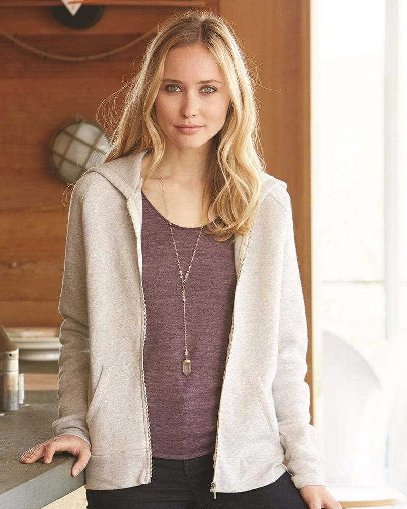 Alternative 9573 - Ladies' Eco-Fleece Adrian Full-Zip Hooded Sweatshirt