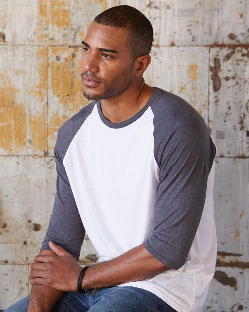 Anvil 6755 - Triblend Raglan Sleeve T-Shirt