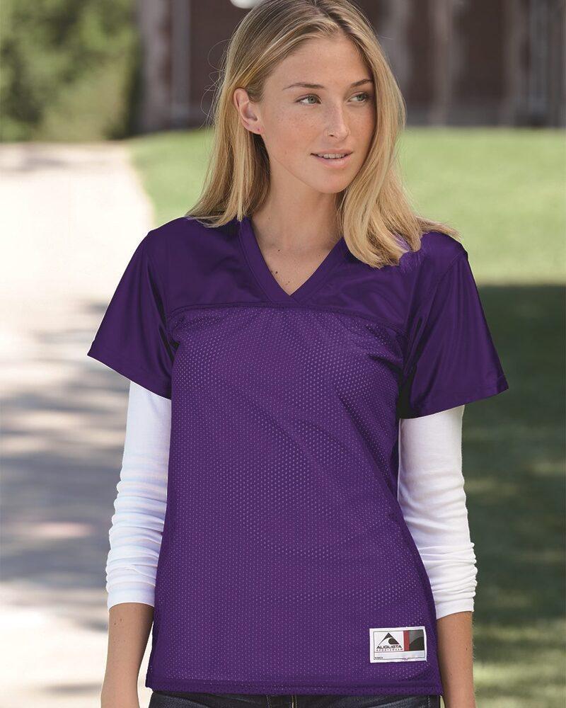 Augusta Sportswear 250 - Remera de fútbol americano fit de mujer