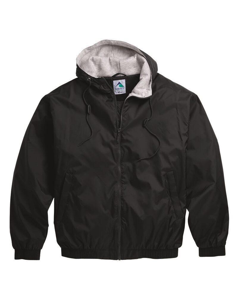 Augusta Sportswear 3280 - Campera de tafetán con capucha/forro polar