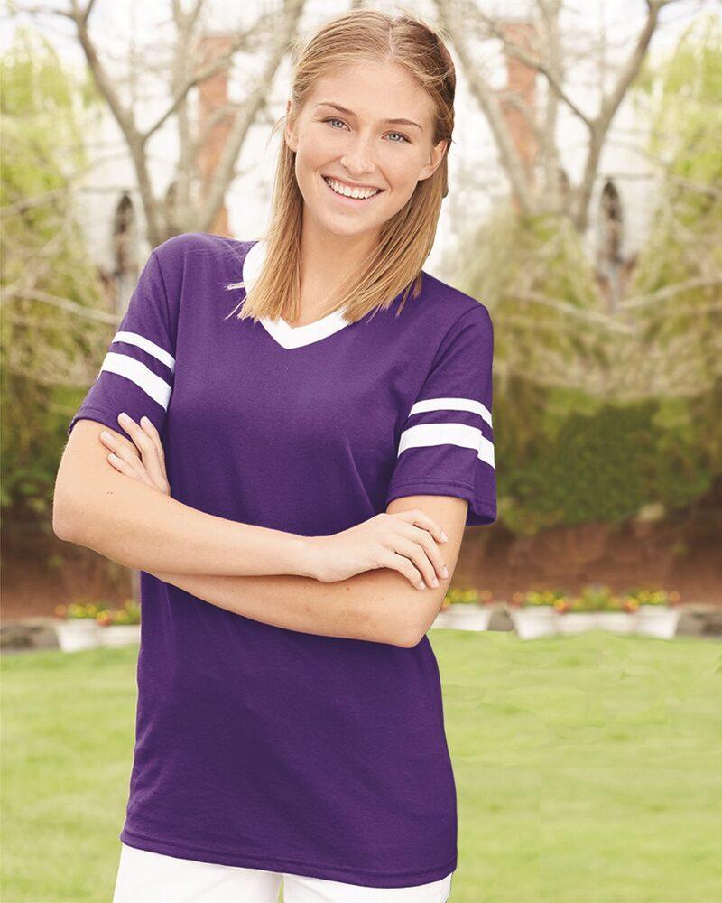 Augusta Sportswear 360 - Remera jersey con mangas con rayas