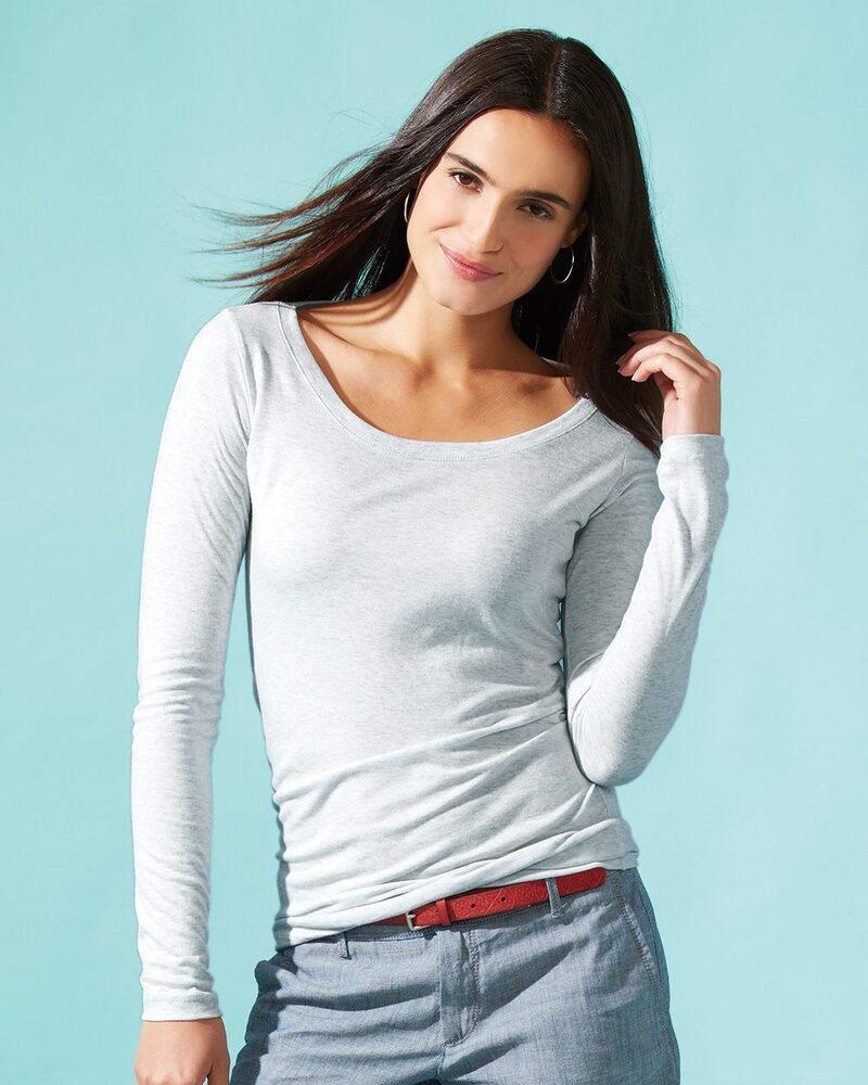 Next Level 6731 - Ladies' Triblend Long Sleeve Scoop
