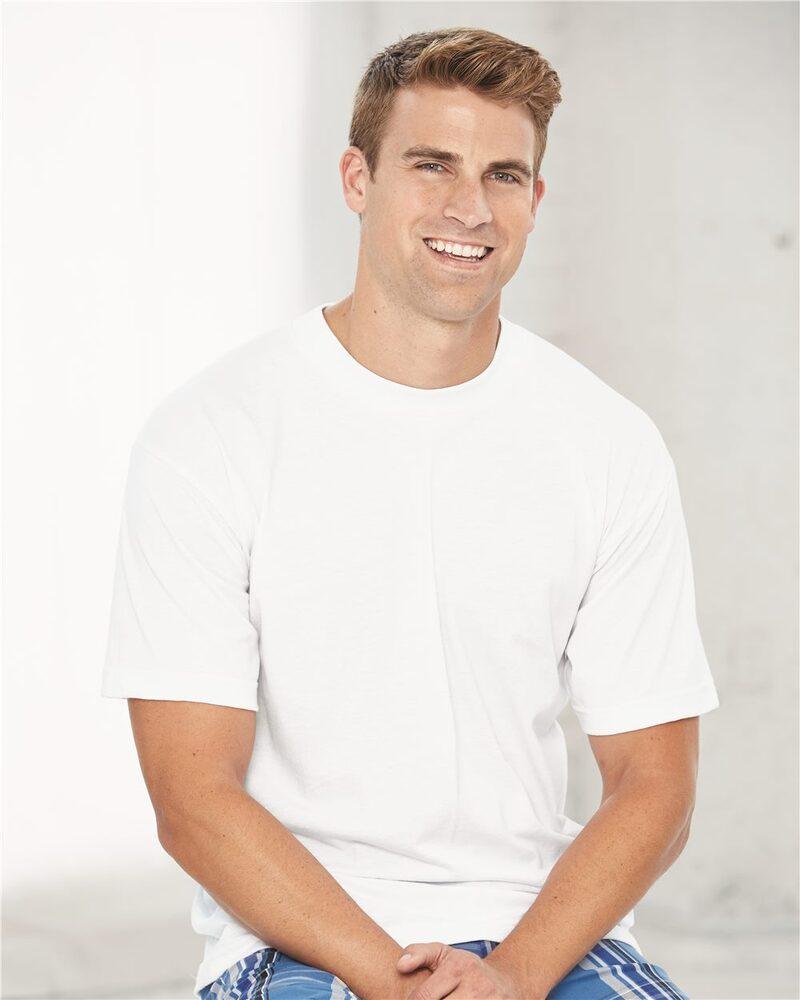 Bayside 1701 - USA-Made 50/50 Short Sleeve T-Shirt