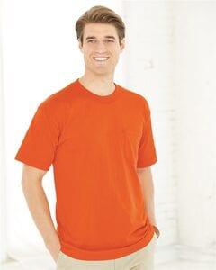 Bayside 1725 - USA-Made 50/50 Short Sleeve T-Shirt with a Pocket