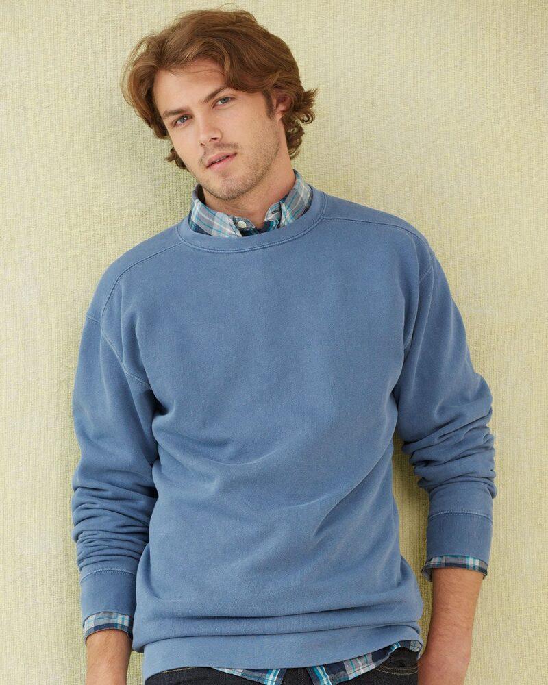 Comfort Colors 1566 - Buzo de prenda teñida de cuello redondo