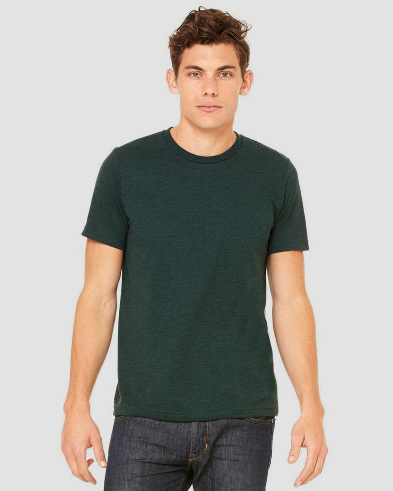 MEN/'S Bella Canvas Triblend Short Sleeves Henley 3 Tees in a Pack