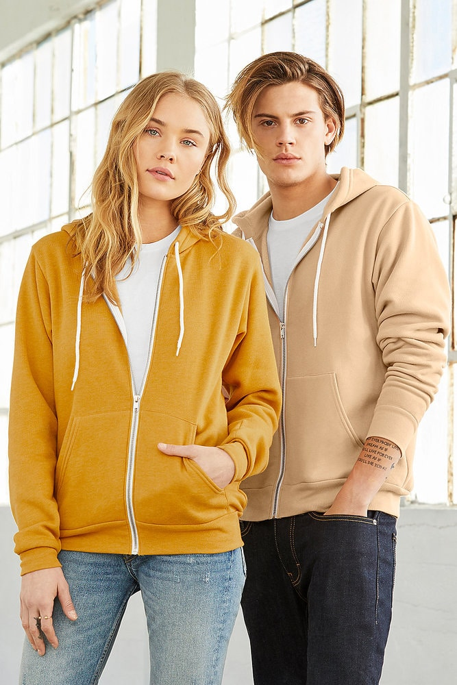 Bella+Canvas 3739 - Unisex Full-Zip Hooded Sweatshirt