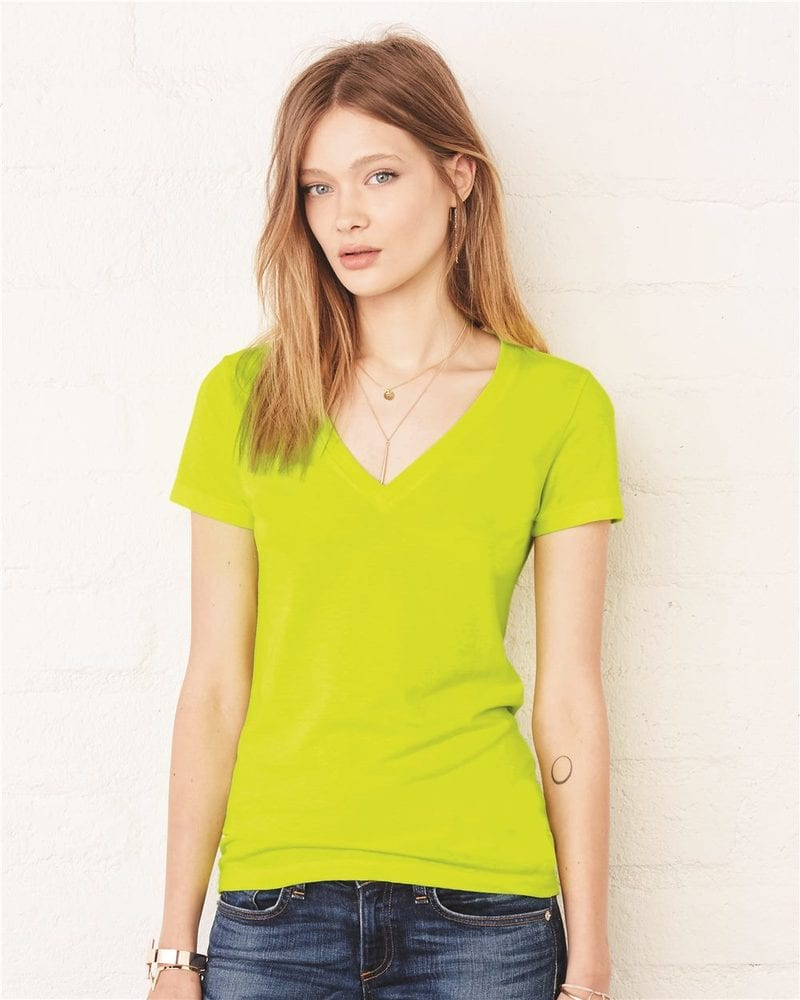 Bella+Canvas 6035 - Remera Jersey con escote en V profundo
