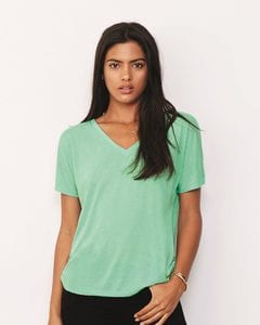 Bella+Canvas 8815 - Ladies Flowy V-Neck Drop-Sleeve Tee