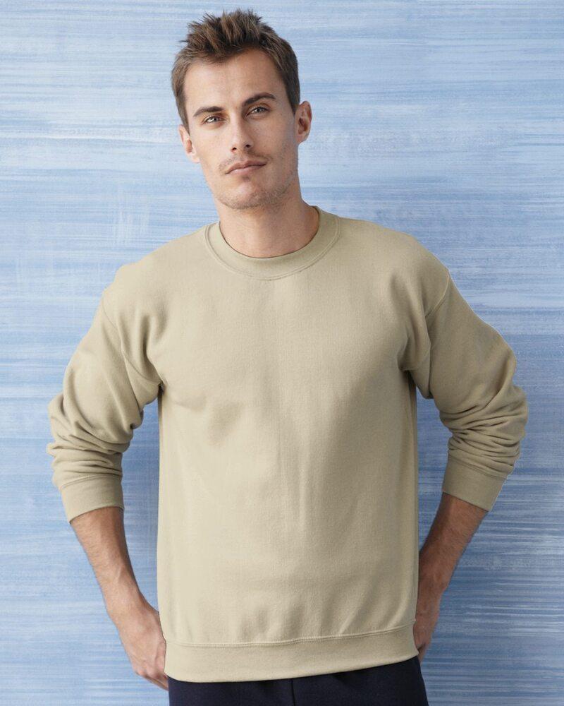 G180B Gildan Boys Heavy Blend Double Needle Crewneck Ribbed Fleece Sweatshirt
