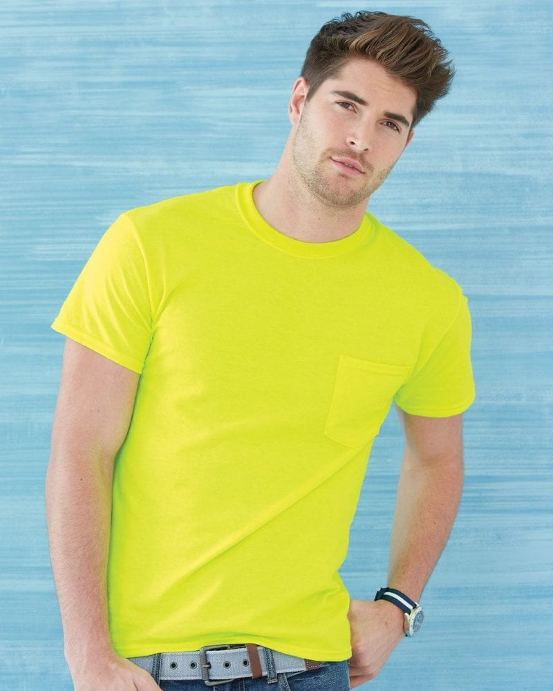 Gildan 2300 - Venta al por mayor de remera Ultra Cotton con bolsilllo