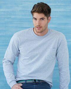 Gildan 2410 - Ultra Cotton™ Long Sleeve T-Shirt with a Pocket