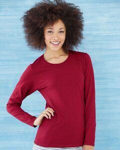 Gildan 5400L - Remera manga larga de algodón grueso para mujeres