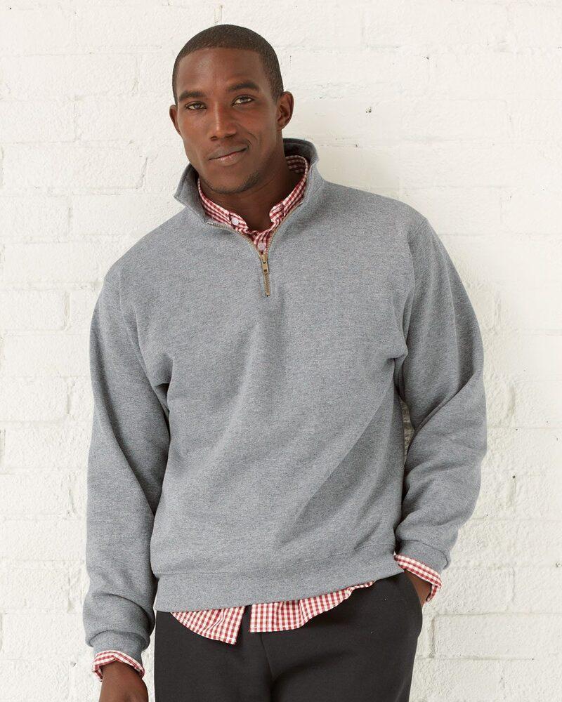 JERZEES 4528MR - NuBlend® SUPER SWEATS® Quarter-Zip Pullover Sweatshirt