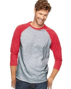 LAT 6930 - Vintage Fine Jersey Three-Quarter Sleeve Baseball T-Shirt