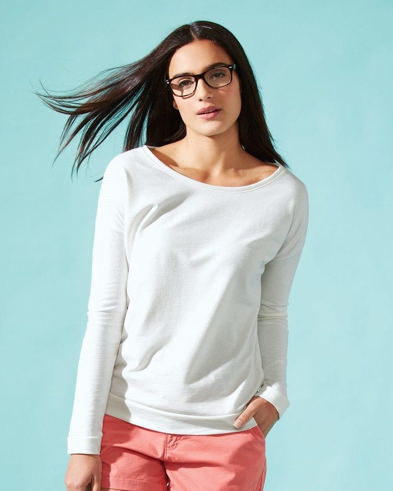 Next Level 6931 - Ladies' Terry Long Sleeve Scoopneck T-Shirt