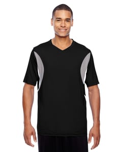 Team 365 TT10 - Mens Short-Sleeve Athletic V-Neck All Sport Jersey