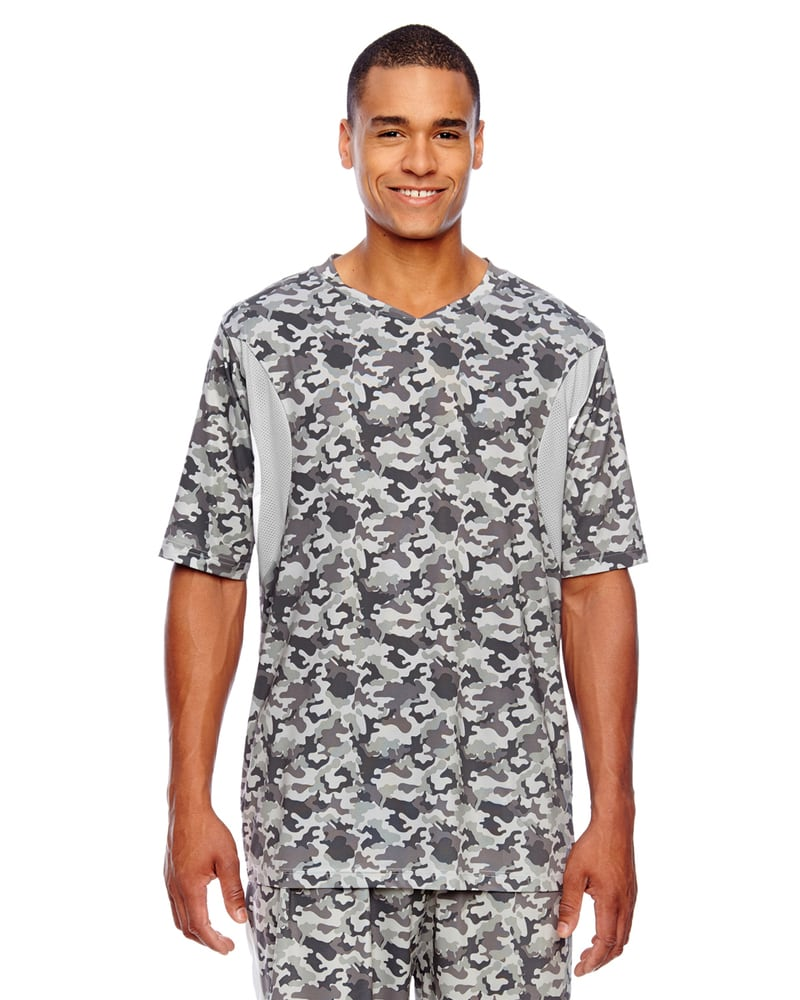 Team 365 TT12 - Men's Short-Sleeve Athletic V-Neck All Sport Sublimated Camo Jersey